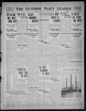 Primary view of object titled 'The Guthrie Daily Leader. (Guthrie, Okla.), Vol. 37, No. 39, Ed. 1 Friday, August 4, 1911'.
