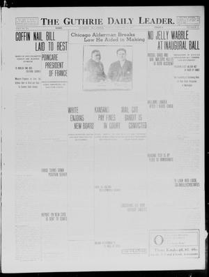 Primary view of The Guthrie Daily Leader. (Guthrie, Okla.), Vol. 40, No. 9, Ed. 1 Friday, January 17, 1913