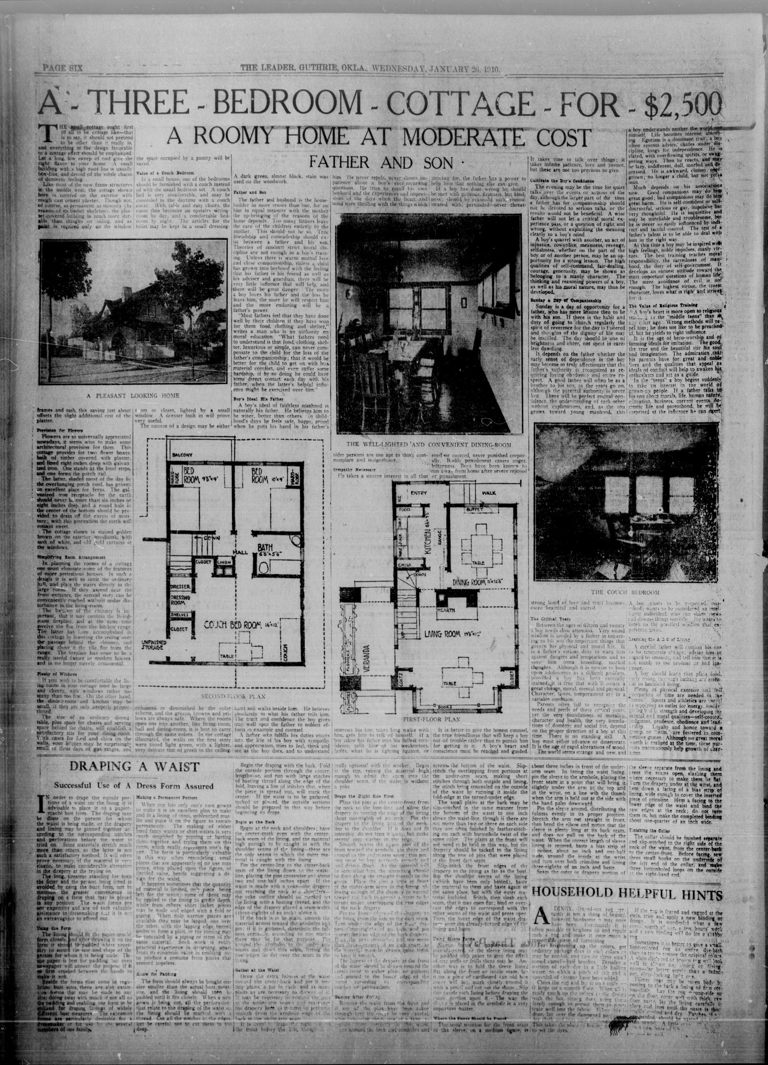 The Guthrie Daily Leader. (Guthrie, Okla.), Vol. 34, No. 51, Ed. 1 Wednesday, January 26, 1910                                                                                                      [Sequence #]: 6 of 8