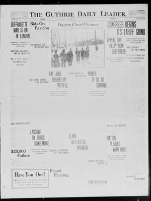 Primary view of object titled 'The Guthrie Daily Leader. (Guthrie, Okla.), Vol. 40, No. 75, Ed. 1 Monday, April 7, 1913'.