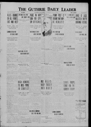 Primary view of object titled 'The Guthrie Daily Leader (Guthrie, Okla.), Vol. 48, No. 9, Ed. 1 Wednesday, July 19, 1916'.