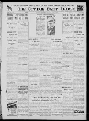 Primary view of object titled 'The Guthrie Daily Leader. (Guthrie, Okla.), Vol. 51, No. 68, Ed. 1 Monday, April 15, 1918'.