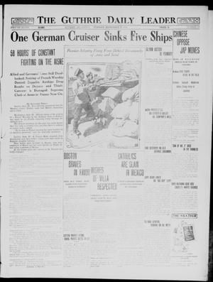 Primary view of object titled 'The Guthrie Daily Leader (Guthrie, Okla.), Vol. 48, No. 67, Ed. 1 Tuesday, September 29, 1914'.