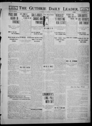 Primary view of object titled 'The Guthrie Daily Leader. (Guthrie, Okla.), Vol. 36, No. 106, Ed. 1 Thursday, April 20, 1911'.