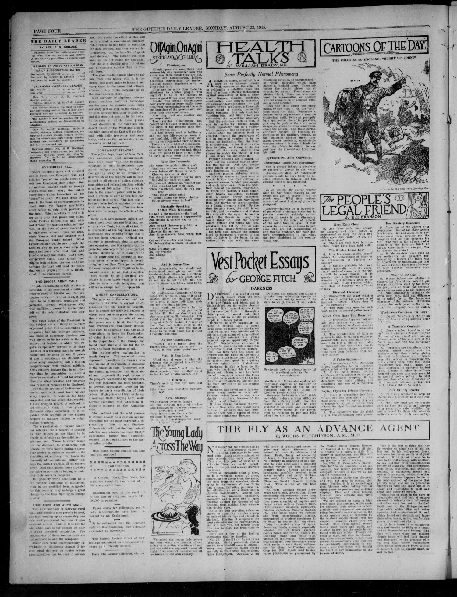 The Guthrie Daily Leader (Guthrie, Okla.), Vol. 49, No. 29, Ed. 1 Monday, August 23, 1915                                                                                                      [Sequence #]: 4 of 8