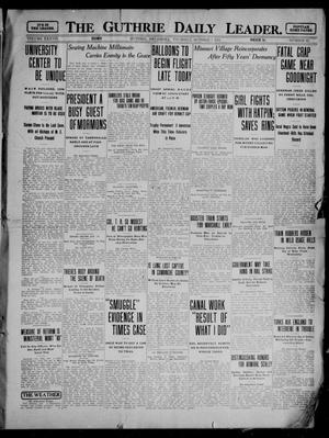 Primary view of object titled 'The Guthrie Daily Leader. (Guthrie, Okla.), Vol. 37, No. 92, Ed. 1 Thursday, October 5, 1911'.