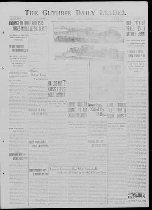 Primary view of object titled 'The Guthrie Daily Leader. (Guthrie, Okla.), Vol. 49, No. 32, Ed. 1 Friday, February 23, 1917'.