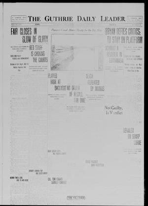Primary view of object titled 'The Guthrie Daily Leader. (Guthrie, Okla.), Vol. 41, No. 60, Ed. 1 Saturday, September 20, 1913'.