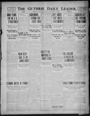 Primary view of object titled 'The Guthrie Daily Leader. (Guthrie, Okla.), Vol. 37, No. 75, Ed. 1 Friday, September 15, 1911'.