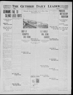Primary view of object titled 'The Guthrie Daily Leader (Guthrie, Okla.), Vol. 48, No. 27, Ed. 1 Tuesday, August 11, 1914'.