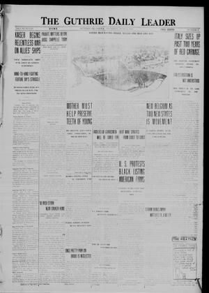 Primary view of object titled 'The Guthrie Daily Leader (Guthrie, Okla.), Vol. 48, No. 17, Ed. 1 Thursday, July 27, 1916'.
