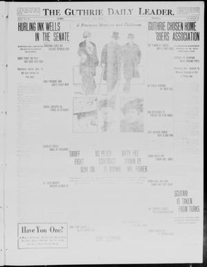 Primary view of object titled 'The Guthrie Daily Leader. (Guthrie, Okla.), Vol. 40, No. 89, Ed. 1 Wednesday, April 23, 1913'.