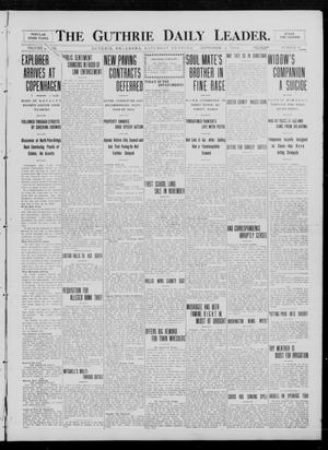 Primary view of object titled 'The Guthrie Daily Leader. (Guthrie, Okla.), Vol. 33, No. 87, Ed. 1 Saturday, September 4, 1909'.