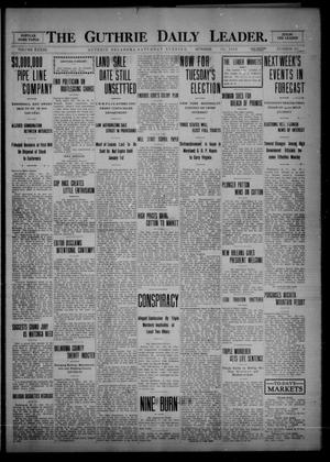 Primary view of object titled 'The Guthrie Daily Leader. (Guthrie, Okla.), Vol. 33, No. 135, Ed. 1 Saturday, October 30, 1909'.