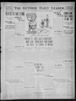 Primary view of object titled 'The Guthrie Daily Leader. (Guthrie, Okla.), Vol. 37, No. 60, Ed. 1 Tuesday, August 29, 1911'.