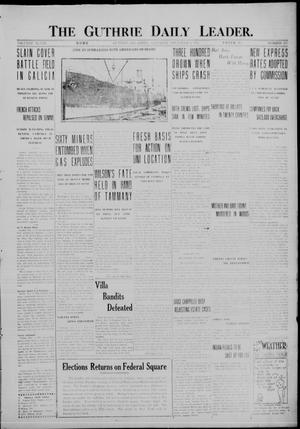 Primary view of object titled 'The Guthrie Daily Leader. (Guthrie, Okla.), Vol. 48, No. 102, Ed. 1 Saturday, November 4, 1916'.