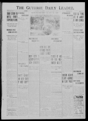 Primary view of object titled 'The Guthrie Daily Leader. (Guthrie, Okla.), Vol. 49, No. 2, Ed. 1 Monday, January 15, 1917'.
