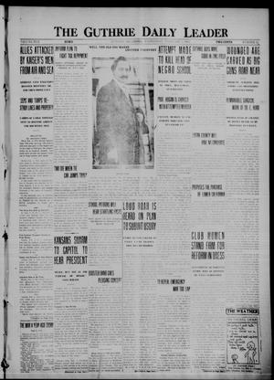Primary view of object titled 'The Guthrie Daily Leader (Guthrie, Okla.), Vol. 50, No. 11, Ed. 1 Wednesday, February 2, 1916'.