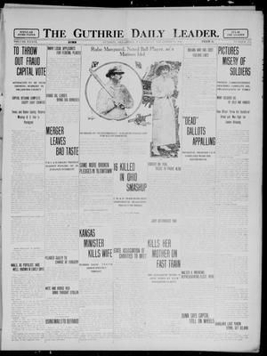 Primary view of object titled 'The Guthrie Daily Leader. (Guthrie, Okla.), Vol. 39, No. 113, Ed. 1 Wednesday, November 13, 1912'.