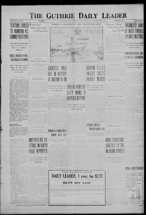 Primary view of object titled 'The Guthrie Daily Leader (Guthrie, Okla.), Vol. 48, No. 70, Ed. 1 Wednesday, September 27, 1916'.
