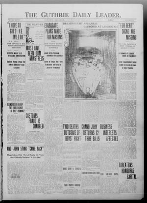 Primary view of object titled 'The Guthrie Daily Leader. (Guthrie, Okla.), Vol. 36, No. 32, Ed. 1 Sunday, January 15, 1911'.