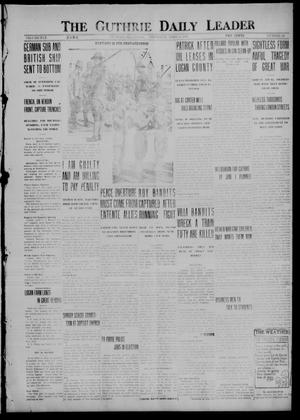 Primary view of object titled 'The Guthrie Daily Leader (Guthrie, Okla.), Vol. 50, No. 68, Ed. 1 Thursday, April 6, 1916'.