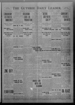 Primary view of object titled 'The Guthrie Daily Leader. (Guthrie, Okla.), Vol. 33, No. 19, Ed. 1 Wednesday, June 16, 1909'.