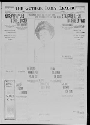 Primary view of object titled 'The Guthrie Daily Leader. (Guthrie, Okla.), Vol. 41, No. 24, Ed. 1 Saturday, August 9, 1913'.