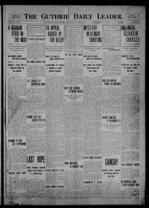 Primary view of object titled 'The Guthrie Daily Leader. (Guthrie, Okla.), Vol. 34, No. 6, Ed. 1 Friday, December 3, 1909'.