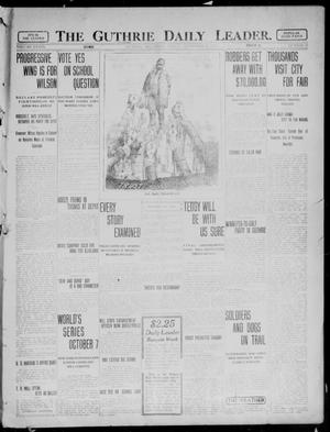 Primary view of object titled 'The Guthrie Daily Leader. (Guthrie, Okla.), Vol. 39, No. 71, Ed. 1 Friday, September 20, 1912'.