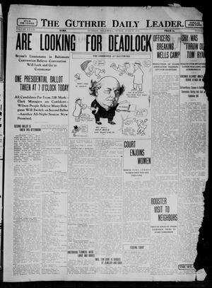 Primary view of object titled 'The Guthrie Daily Leader. (Guthrie, Okla.), Vol. 39, No. 1, Ed. 1 Friday, June 28, 1912'.