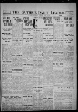 Primary view of The Guthrie Daily Leader. (Guthrie, Okla.), Vol. 36, No. 110, Ed. 1 Tuesday, April 25, 1911