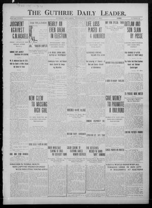 Primary view of object titled 'The Guthrie Daily Leader. (Guthrie, Okla.), Vol. 36, No. 44, Ed. 1 Wednesday, February 1, 1911'.
