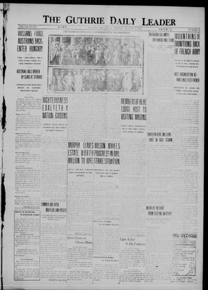 Primary view of object titled 'The Guthrie Daily Leader (Guthrie, Okla.), Vol. 48, No. 38, Ed. 1 Monday, August 21, 1916'.