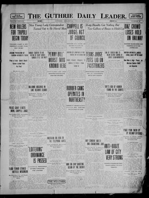 Primary view of object titled 'The Guthrie Daily Leader. (Guthrie, Okla.), Vol. 37, No. 93, Ed. 1 Friday, October 6, 1911'.