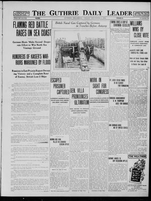 Primary view of object titled 'The Guthrie Daily Leader (Guthrie, Okla.), Vol. 48, No. 99, Ed. 1 Friday, November 6, 1914'.