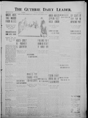 Primary view of object titled 'The Guthrie Daily Leader. (Guthrie, Okla.), Vol. 48, No. 92, Ed. 1 Tuesday, October 24, 1916'.