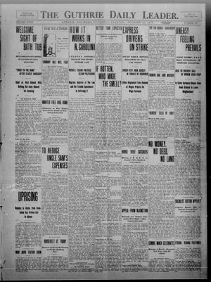 Primary view of object titled 'The Guthrie Daily Leader. (Guthrie, Okla.), Vol. 35, No. 125, Ed. 1 Thursday, October 27, 1910'.