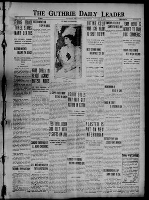 Primary view of object titled 'The Guthrie Daily Leader (Guthrie, Okla.), Vol. 50, No. 6, Ed. 1 Thursday, January 27, 1916'.