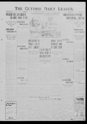 Primary view of object titled 'The Guthrie Daily Leader. (Guthrie, Okla.), Vol. 49, No. 30, Ed. 1 Wednesday, February 21, 1917'.