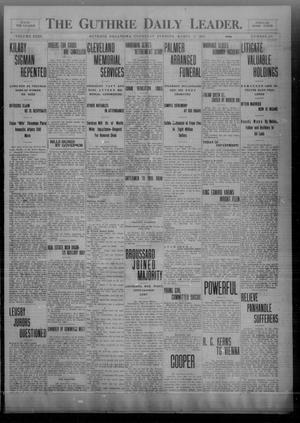 Primary view of object titled 'The Guthrie Daily Leader. (Guthrie, Okla.), Vol. 32, No. 100, Ed. 1 Thursday, March 18, 1909'.
