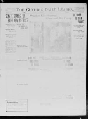 Primary view of object titled 'The Guthrie Daily Leader. (Guthrie, Okla.), Vol. 40, No. 45, Ed. 1 Monday, March 3, 1913'.