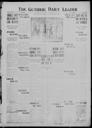 Primary view of object titled 'The Guthrie Daily Leader (Guthrie, Okla.), Vol. 50, No. 99, Ed. 1 Thursday, May 11, 1916'.
