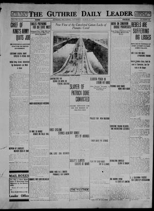 Primary view of object titled 'The Guthrie Daily Leader. (Guthrie, Okla.), Vol. 46, No. 64, Ed. 1 Thursday, March 26, 1914'.
