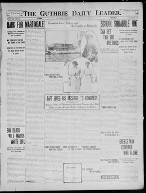 Primary view of The Guthrie Daily Leader. (Guthrie, Okla.), Vol. 39, No. 129, Ed. 1 Tuesday, December 3, 1912