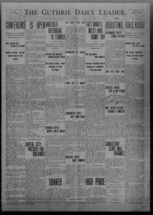 Primary view of object titled 'The Guthrie Daily Leader. (Guthrie, Okla.), Vol. 32, No. 141, Ed. 1 Wednesday, May 5, 1909'.