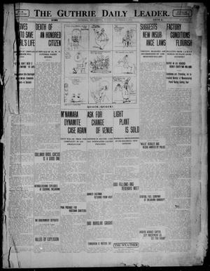 Primary view of object titled 'The Guthrie Daily Leader. (Guthrie, Okla.), Vol. 39, No. 79, Ed. 1 Tuesday, October 1, 1912'.