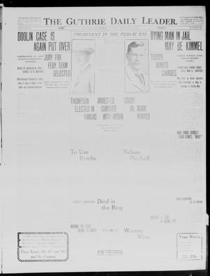 Primary view of object titled 'The Guthrie Daily Leader. (Guthrie, Okla.), Vol. 40, No. 18, Ed. 1 Tuesday, January 28, 1913'.
