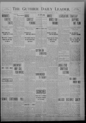 Primary view of The Guthrie Daily Leader. (Guthrie, Okla.), Vol. 32, No. 59, Ed. 1 Friday, January 29, 1909
