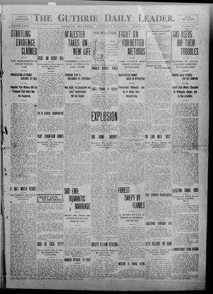 Primary view of object titled 'The Guthrie Daily Leader. (Guthrie, Okla.), Vol. 34, No. 100, Ed. 1 Saturday, March 26, 1910'.